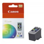 Canon CL 51 - Ink tank - 1 x color (cyan, magenta, yellow) (0618B002)