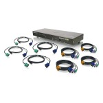 IOGEAR GCS1808KIT - KVM / USB switch - PS/2, USB - 8 ports KVM / USB (GCS1808KIT)