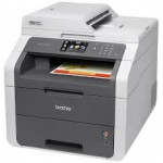 Brother MFC-9130CW LED Multifunction Desktop Printer - Color - Copier/Fax/Printer/Scanner - 19 ppm Mono/19 ppm Color Print - 600 x 2400 dpi Print - Touchscreen LCD - 1200 dpi Optical Scan - 251 sheets Input - Wireless LAN - USB (MFC9130CW) Multifunction P