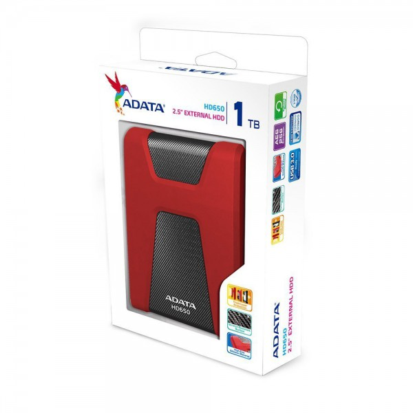 ADATA DashDrive Durable HD650 1TB Rugged USB 3 0 Portable External