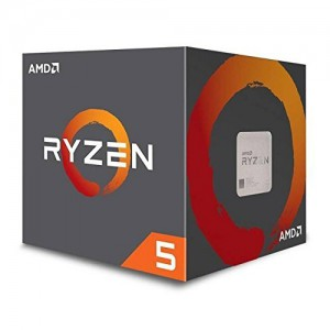 AMD RYZEN 5 1600 3.2GHz Processor - Socket AM4 - Hexa-Core (6 Core) - 12 Threads - 16MB L3 Cache - 3MB L2 Cache - 65W TDP - 3.6GHz Max Turbo Frequency - Unlocked Clock Multiplier - AMD Wraith Spire CPU Cooler (YD1600BBAEBOX) Processors (CPUs)
