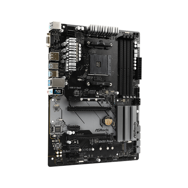 ASRock B450 PRO4 ATX Motherboard - Socket AM4 - AMD B450