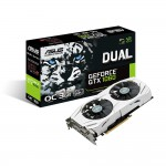 ASUS Dual GeForce GTX 1060 Video Card - 3GB 192-bit GDDR5 - PCI Express 3.0 x16 - 1809MHz OC Mode Boost Core Clock - VR Ready - G-SYNC - DVI-D - 2x HDMI 2.0 - 2x DisplayPort - Patented Wing-Blade Fans (DUAL-GTX1060-O3G) Video Cards