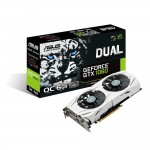ASUS Dual GeForce GTX 1060 Video Card - 6GB 192-bit GDDR5 - PCI Express 3.0 x16 - 1809MHz OC Mode Boost Core Clock - VR Ready - G-SYNC - DVI-D - 2x HDMI 2.0 - 2x DisplayPort - Patented Wing-Blade Fans (DUAL-GTX1060-O6G) Video Cards
