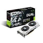 ASUS Dual GeForce GTX 1070 Video Card - 8GB 256-bit GDDR5 - PCI Express 3.0 x16 - 1771 MHz OC Mode Boost Core Clock - VRReady - SLI Ready - G-SYNC - DL-DVI-D - 2x HDMI 2.0 - 2x DisplayPort 1.4 - Patented Wing-Blade Fans (DUAL-GTX1070-O8G) Video Cards
