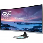 "ASUS Designo MX34VQ 34"" UQHD 100Hz Curved VA IPS Monitor - 3440x1440 - 21:9 - 300 cd/m2 - 3000:1 Static Contrast - 4ms GtG - DisplayPort - 3x HDMI 2.0 - Adaptive-Sync - Harman Kardon Stereo Speakers - Built-in 5W/1A Qi Wireless Charger (MX34VQ) IPS Monito"