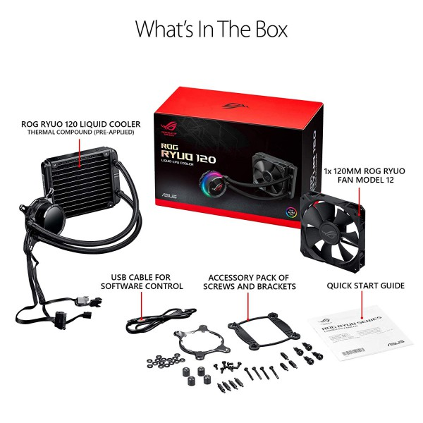 ASUS ROG RYUO 120 All-in-One 120mm Liquid CPU Cooler - 1 77