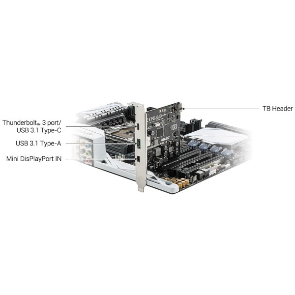 ASUS ThunderboltEX 3 Thunderbolt 3 /& USB 3.1 PCI-e Card For Z170 X99 DELUXE II