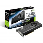 ASUS Turbo GeForce GTX 1070 Video Card -  8GB 256-bit GDDR5 - PCI Express 3.0 x16 - 1683 MHz Boost Core Clock - G-SYNC - VR Ready - SLI Ready - DL-DVI-D - 2x HDMI 2.0 - 2x DisplayPort (TURBO-GTX1070-8G) Video Cards