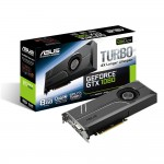 ASUS Turbo GeForce GTX 1080 Video Card - 8GB 256-bit GDDR5X - PCI Express 3.0 x16 - 1733 MHz Boost Core Clock - VR Ready - SLI Ready - DVI-D - 2 x HDMI 2.0 - 2 x DisplayPort - Dual-ball Bearing Fan (TURBO-GTX1080-8G) Video Cards