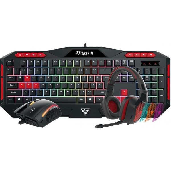 Gamdias POSEIDON M1 COMBO Gaming Keyboard & Mouse & Headset