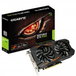 GIGABYTE GeForce GTX 1050 WINDFORCE OC 2G Video Card - 2GB 128-bit GDDR5 - PCI Express 3.0 x16 - 1531MHz OC Mode Boost Core Clock - WINDFORCE 2X Fans - G-SYNC - DirectX 12 - DL-DVI-D - 3x HDMI 2.0b - DisplayPort 1.4 (GV-N1050WF2OC-2GD) Video Cards