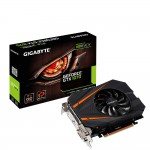GIGABYTE GeForce GTX 1070 Mini ITX OC Video Card - 8GB 256-bit GDDR5 - PCI Express 3.0 x16 - 1746 MHz OC Mode Boost Core Clock - 90mm 3D Active Fan - VRReady - SLI Ready - G-SYNC - 2x DL-DVI-D - HDMI 2.0b - DisplayPort 1.4 (GV-N1070IXOC-8GD) Video Cards