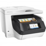 "HP OfficeJet Pro 8730 All-in-One Inkjet Printer - 4.3"" Color Touchscreen Display - Auto Duplexing - 250-Sheet Input Capacity - Up to 36 ppm - USB 2.0 - Ethernet - Wi-Fi - 2 x RJ-11 - NFC Touch-to-Print - Instant Ink Eligible (D9L20A#B1H) Multifunctio"