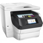 "HP OfficeJet Pro 8740 All-in-One Inkjet Printer - 4.3"" Color Touchscreen Display - Auto Duplexing - Borderless Printing - 500-Sheet Input Capacity - Up to 36 ppm - USB 2.0 - Ethernet - Wi-Fi - NFC - Instant Ink Ready (K7S42A#B1H) Multifunction Printe"