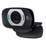 Logitech C615 Fold-and-Go HD Webcam - HD 1080p - 8MP Snapshots - 360-degree Swivel - Built-in Noise-Cancelling Mic - Auto Light Correction (960-000733) Webcams