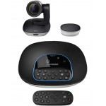 Logitech GROUP Video Conferencing System - HD 1080p Camera - Full-Duplex Speakerphone - Up to 14 people - Compatible with Mac & PC (960-001054) Webcams