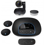 Logitech GROUP Video Conferencing System w/ Expansion Mics - HD 1080p Camera - Full-Duplex Speakerphone - Up to 20 people - Compatible with Mac & PC (960-001060) Webcams