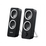 Logitech Z200 Computer Stereo Speaker System with Adjustable Bass - 10W Peak/5W RMS - Headphone/Auxiliary Jacks (980-000800) PC Speakers