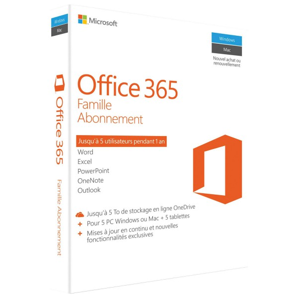 Microsoft Office 365 Home Subscription 5 Pc Or Mac License 1