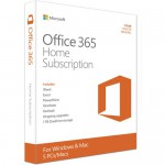 Microsoft Office 365 Home Subscription - 5 PC or Mac License - 1-Year - 5 User - Box Pack - Medialess - P2 - English - 1TB OneDrive Cloud Storage Per User - Phone & Tablet Compatible (6GQ-00643) Office & Productivity