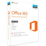 Microsoft Office 365 Personal Subscription - 1 PC or Mac License - 1-Year - Box Pack - Medialess - English - 1TB OneDrive Cloud Storage - Phone & Tablet Compatible (QQ2-00597) Office & Productivity