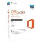 Microsoft Office 365 Personal Subscription - 1 PC or Mac License - 1-Year - Box Pack - Medialess - French - 1TB OneDrive Cloud Storage - Phone & Tablet Compatible (QQ2-00598) Office & Productivity