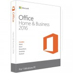 Microsoft Office Home & Business 2016 for Windows - 1-User License - Box Pack - Medialess - English - NA Only (T5D-02776) Office & Productivity