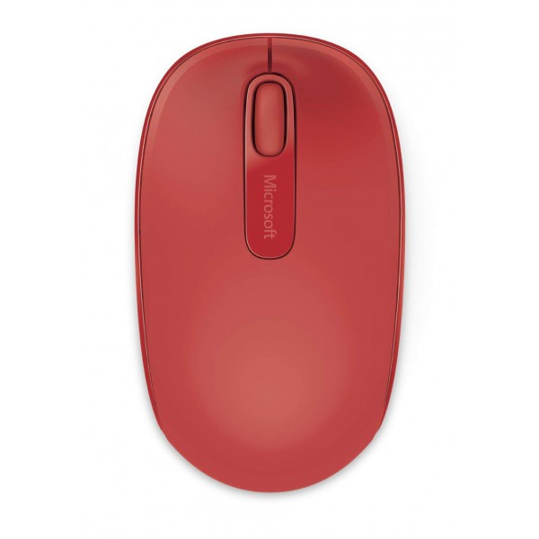 cc25111b24f Microsoft Wireless Mobile Mouse 1850 for Business - Flame Red - 1000 DPI  Optical Sensor - Wireless 2.4 GHz ...