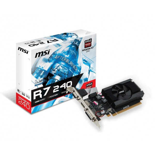 MSI Radeon R7 240 Low Profile Video Card - 2GB 64-bit DDR3 - PCI
