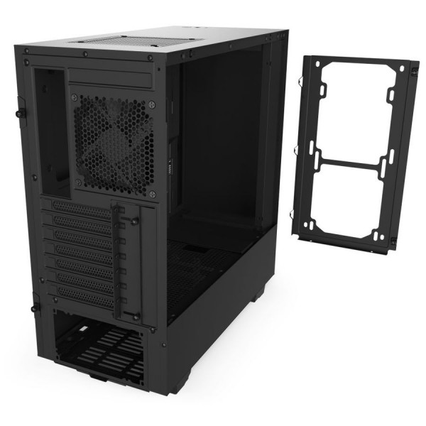 Nzxt H510 Compact Mid Tower Atx Computer Case Tempered Glass Side Panel Removable Fan Bracket 1x