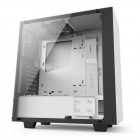 NZXT S340 Elite Mid Tower Computer Case - Tempered Glass Side Panel - 1x 120mm Top Fan - 1x 120mm Rear Fan - 2x USB 3.0 - Top Panel HDMI Port - Audio/Mic - Integrated PSU Shroud - Magnetic Headset Holder - Matte White (CA-S340W-W2) Computer Cases