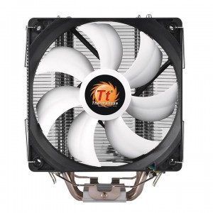 Thermaltake Contac Silent 12 CPU Cooler - 120mm PWM Fan - AM4/LGA 1151 Compatible - Long Life Hydraulic Bearing - LNC (Low-Noise Cable) Included (CL-P039-AL12BL-A) CPU Cooling