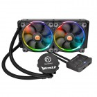 Thermaltake Water 3.0 Riing RGB 240 All-in-One CPU Liquid Cooling System - 240mm Radiator - 2x 120mm LED RGB Fans - Smart Fan Controller (CL-W107-PL12SW-A) Liquid Cooling