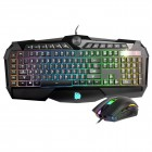 Thermaltake Tt eSPORTS Challenger Prime RGB Gaming Keyboard & Mouse Combo - On-The- Fly Macro - 3200 DPI Optical Sensor Mouse (KB-CPC-MBBRUS-01) Gaming Devices