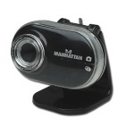 Manhattan High-Speed USB Mega Cam - 7.5 Megapixels - Auto Tracking - Built-In Microphone (460477)